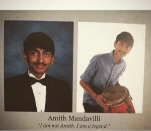 "Club, Tumblr, and Blog: Amith Mandavilli  ""I am not Amith. I am a legend."" laughoutloud-club:  Heros get remembered…"