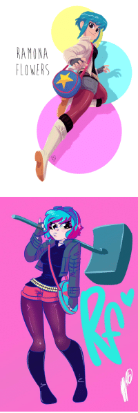somealternatemusings:Ramona Flowers-Ramona is a powerful warrior despite her appearance seemingly possessing magic and supernatural abilities her hammer is always ready her strength and speed and agility are unmatched she is ready for anything she trained for years honing her skills now prepared to face anything.: AMONA  LOWERS somealternatemusings:Ramona Flowers-Ramona is a powerful warrior despite her appearance seemingly possessing magic and supernatural abilities her hammer is always ready her strength and speed and agility are unmatched she is ready for anything she trained for years honing her skills now prepared to face anything.