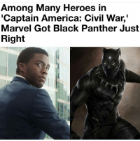 """I still didn't see it 😒: Among Many Heroes in  """"Captain America: Civil War,  Marvel Got Black Panther Just  Right I still didn't see it 😒"""