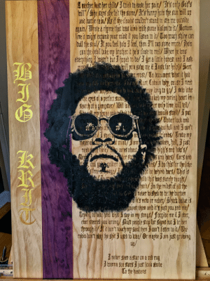 Hand Painted BIG KRIT. 1st of a 3KINGS series I'm making.: Amorher last her chil/tried to eade her pair/ oly o's  trillhe sups the telt the same/t's funn ho the u ill up  and hatle rain/ s it the dloube coultn't stan to e me oide  agzim/ote me that a kind ith gome bision t it/otom  line it might expand pour mint it pou listen to it/ To mcy shine can  trul tie soul/t pou tel ho 3 fel, hen Il rap some mote/ota  can the behil tae my brother it he's tlose to me/he he ag  everpthinge hut hoe to be/ ga litle honest and J astk  l po sebe me task tor heln/ et  Aa most/ To bocument that it had  hear diut Cobain twy,cause met  pe when uy Long to go satu lobe  Fje epes ot a pertect stcan 1oked mp caring heart in  Searth ot e gangster/ il wera er only tíme toill tel/  hhould gtuell/  ALUPpes  put  /Under lock and  too full and J can't  iends/ Trade my  ll mp phane analln t  aben, bell, just  materieliu e of mino/amut le eaben, hell, just  cares about high's emd lo'/  Mey er g sand hoes/ Carg ano  es/dthis for theohe  fre e be behi ers/This is  Aolb this t surely teught  harb/3n the midet of all he  neer ished to be the burden  itnota or meber/hock belue is  anst them and it's just pou and me/  Trying to take el tihar 3 sap in m songs/forgie me itJ eber,  eber steered pou orong ast people stop tor signs but Irben  through it/f it bon't louc my sonal then cant listen to it/he  tabio don't play the sit 3 use to lobe/ Or mabe am just grobing  meede time  up/  neber seen a star on a reb rug  3 wanne see stars just look adobe  To the heabens  2 Hand Painted BIG KRIT. 1st of a 3KINGS series I'm making.