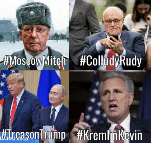 Cancers to our Democracy.: AMoscow Mitch #ColludyRudy  #Treason Trump Cancers to our Democracy.