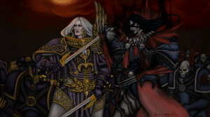 amriinthewarp:  Fulgrim the Phoenician and Konrad Curze with their legions //drew this all the February qwq: amriinthewarp:  Fulgrim the Phoenician and Konrad Curze with their legions //drew this all the February qwq