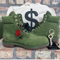 Memes, Timberland, and 🤖: AmTMCH SecureTheBag alert! Cop our exclusive @djkhaled @timberland collab now - both in stores and on champssports.com-peeptheboot 💰💵🔑