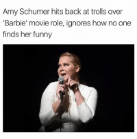 @drunkpeopledoingthings is the best new account on instagram.: Amy Schumer hits back at trolls over  'Barbie' movie role, ignores how no one  finds her funny @drunkpeopledoingthings is the best new account on instagram.