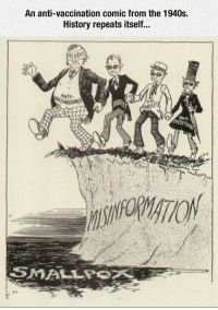 <p>Stupidity Is Timeless.</p>: An anti-vaccination comic from the 1940s.  History repeats itself...  uDIC  ANTI-  CCINATIONIST  ARELE <p>Stupidity Is Timeless.</p>