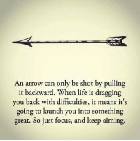 an arrow can only be shot