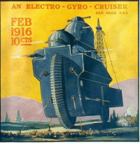 """Tumblr, Blog, and Http: AN ELECTRO GYRO CRUISER  SEE PAGE 54 2  FEB  1916  1OCTS <p><a href=""""http://scifiseries.tumblr.com/post/166223467904/an-electro-gyro-cruiser-from-the-cover-of-the"""" class=""""tumblr_blog"""">scifiseries</a>:</p>  <blockquote><p>An electro-gyro-cruiser from the cover of The Electrical Experimenter, February 1916.</p></blockquote>"""