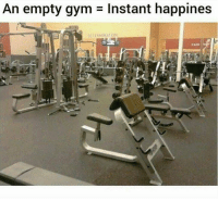 Gym, Best, and One: An empty gym  Instant happines  DETERMINATION One of the best feelings ever 🙌