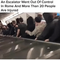 For all the stories from around the world that you need to know, follow 👉 @world 🌎🙌: An Escalator Went Out Of Control  In Rome And More Than 20 People  Are Injured For all the stories from around the world that you need to know, follow 👉 @world 🌎🙌