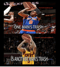 Finals, Instagram, and J.R. Smith: AN Ex  New York KnicksMemes com  BACARI  ONE MAN'S TRASH  Instagram: @New York KnicksMemes  SANOTHERMANSTRASH JR Smith shot 31% in the NBA Finals. Shumpert shot even worse. Now we don't have to hear him talk that nonsense about how it's the Knicks' fault he didn't get it done for us... Credit: NBA Paint Zone -Tommy  New York Knicks Memes