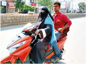 An extra ordinary tale! A Telangana mother (Razia Begum), drove her 2 wheeler for around 1400 km to bring back her son home who was stranded in Andhrapradesh! A mother's heart knows no bounds and could go to any length to protect her kids...: An extra ordinary tale! A Telangana mother (Razia Begum), drove her 2 wheeler for around 1400 km to bring back her son home who was stranded in Andhrapradesh! A mother's heart knows no bounds and could go to any length to protect her kids...