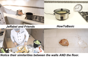 """An extraordinary resemblance of """"Jeffabel and Friends""""'s Kitchen compared with HowToBasic's Kitchen.: An extraordinary resemblance of """"Jeffabel and Friends""""'s Kitchen compared with HowToBasic's Kitchen."""
