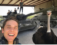 Soldiers, Australian, and War: An informant pictured with Australian soldiers during the Emu war (1932)