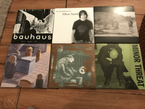 I bought more records for some reason: An Introduction to...  Elliott Smith  bauhaus  Deolittle  PIXIES  DISCHORD  MINOR THREAT  Dars of utila I bought more records for some reason