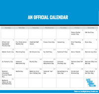 """<p><a href=""""http://www.latenightwithjimmyfallon.com/blogs/2013/02/march-holiday-madness-calendar/"""" target=""""_blank""""><strong>Late Night with Jimmy Fallon presents: March (Holiday) Madness</strong></a></p> <p>March is cold and long and we thought you could use some fun to get you through. So we hit the Internet and found all the weird, funny, and obscure holidays we could find to fill out our March calendar. And we&rsquo;re going to celebrate<strong> every single one of them.</strong></p> <p>Every day for the month of March, we&rsquo;ll share pictures, posts, or videos of us celebrating that day&rsquo;s holiday. And you are totally invited to this party. Use the calendar above (printable version <a href=""""http://www.latenightwithjimmyfallon.com/blogs/2013/02/march-holiday-madness-calendar/"""" target=""""_blank"""">here</a>) to see what we&rsquo;re celebrating and tweet us your own photos with <strong>#HolidayMadness</strong>. We&rsquo;ll share our favorites!</p> <p><span>GET READY FOR MARCH! THE FUN STARTS TOMORROW.</span></p>: AN OFFICIAL CALENDAR  Sunday  Monda  Tuesda  Wednesda  Thursda  Frida  Saturda  Peanut Butter  Lovers' Day  Old Stuff Day  3  4  5  6  8  Proof Reading  Day  Panic Day  If Pets Had  Opposable  Thumbs Day  Frozen Food Day  Cereal Day  Fun Facts about  Names Day  National Craft  13  14  10  Middle Name Day  12  15  16  National Lips Day  Plumbing Day  Girl Scouts Day  Ear Muff Day  National Pi Day  Ides of March  17  18  19  20  21  23  Extraterrestrial  Abductions DayCourtesy Day  National Goof Off  Day  St. Patrick's Day  Awkward  Moments Day  Poultry Day  Common  National Chip and  Dip Day  24  25  26  27  28  29  30  Waffle Day  National """"Joe  Day  Take a Walk in  the Park Day  National  Chocolate  Covered Raisin  Day  Make Up Your  Own Holiday Day  Something on aSmoke and  Stick Day  Mirrors Day  31  LAT  National  Clams on the  Half Shell Day  JIM  Follow us: LateNight Jimmy.Tumblr.com <p><a href=""""http://www.latenightwithjimmyfallon.com/blogs/2013/02"""
