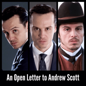 "frank-o-meter:  AN OPEN LETTER TO ANDREW SCOTT   Dear Mr. Scott,  Congratulations on your break through role as the villain Moriarty on the TV show ""Sherlock"". It's brought you to international attention and already you've received several high profile roles including the traitor ""C"" in the new Bond film ""Spectre"" and the constable-gone-bad in ""Victor Frankenstein"".     But do you see a trend here? ""Villain"", ""Traitor"", and ""Gone-Bad""?  You are in danger of being type-cast. You've got to break this mild soon, otherwise you'll be playing smarmy villains for the rest of your career.   Smile more often - a genuine smile.: An Open Letter to Andrew Scott frank-o-meter:  AN OPEN LETTER TO ANDREW SCOTT   Dear Mr. Scott,  Congratulations on your break through role as the villain Moriarty on the TV show ""Sherlock"". It's brought you to international attention and already you've received several high profile roles including the traitor ""C"" in the new Bond film ""Spectre"" and the constable-gone-bad in ""Victor Frankenstein"".     But do you see a trend here? ""Villain"", ""Traitor"", and ""Gone-Bad""?  You are in danger of being type-cast. You've got to break this mild soon, otherwise you'll be playing smarmy villains for the rest of your career.   Smile more often - a genuine smile."