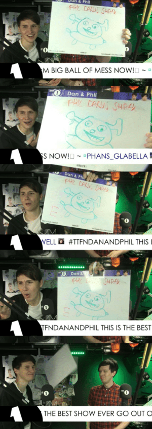 magi6125:  The five stages of acceptance: 1) Lol 2) Really?! XD 3) What on Earth is this? 4) Why would you do this? I don't even know anymore… 5) Aww fuck it  He looks so happy when he can just throw it at the end : an&  Phil  0  M BIG BALL OF MESS NOW!O ~ a   -O, Dan & Phil  S NOWIU-PHANSGLABELLA  -  e8scRi   Dan & Ph  bbc co uk/radio  ELLa #TFNDANANDPHIL THIS !   Dan &  1  TFNDANANDPHIL THIS IS THE BEST   1  THE BEST SHOW EVER GO OUT O magi6125:  The five stages of acceptance: 1) Lol 2) Really?! XD 3) What on Earth is this? 4) Why would you do this? I don't even know anymore… 5) Aww fuck it  He looks so happy when he can just throw it at the end
