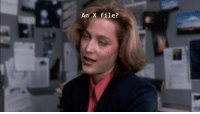 x files: An  X file?