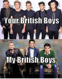 Doctor Who Funny Memes: AN  Your British Boys  Doctor Who and the  TA.R.D.I, S.  My British Boys
