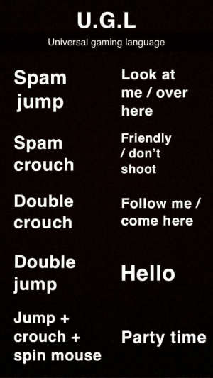 anachronic-cobra: gamercrunch:  How to communicate quickly in game via reddit    It's so weird that I knew all of this but don't remember learning it.  Communication learned accidentally through exposure : anachronic-cobra: gamercrunch:  How to communicate quickly in game via reddit    It's so weird that I knew all of this but don't remember learning it.  Communication learned accidentally through exposure