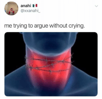 Arguing, Crying, and Anahi: anahi Ll  @xxanahl  me trying to argue without crying