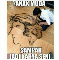 Indonesian (Language), Sen, and Muda: ANAK MUDA  SAMPAH  ADIKARYA SEN
