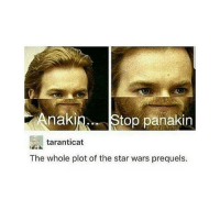 Memes, Star Wars, and Star: Anaki  n. Stop panakin  taranticat  The whole plot of the star wars prequels. why am i up at 3:30am wjkdowuxw -Indy