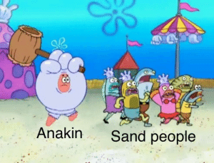 Star Wars, Star, and Been: Anakin Sand people Deleted scene from Star Wars Episode II has finally been unearthed