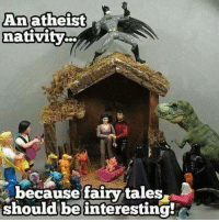 nativity: Anatheist  nativity  because fairy/tales  should be interesting