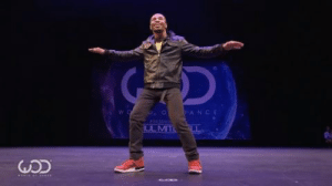 """iwontdancenetwork:  Playing around with Naruto anime music and dance!  Freestyle dance to """"Fooling Theme"""" by Fik-Shun at World of Dance 