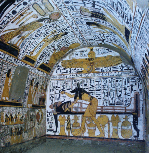 ancientorigins:  Ancient Egyptian burial chamber in the tomb of Nebenmaat at Deir El Medina: ancientorigins:  Ancient Egyptian burial chamber in the tomb of Nebenmaat at Deir El Medina