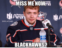 Panarin with an absolute snipe in overtime, why did Chicago trade Panarin again?: ANCn nwide  MISS MENOWna  Nation  ren  @nhl_ref_logic  BLACKHAWKSP Panarin with an absolute snipe in overtime, why did Chicago trade Panarin again?