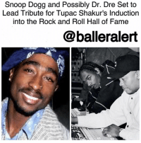 """Snoop Dogg and Possibly Dr. Dre Set to Lead Tribute for Tupac Shakur's Induction into the Rock and Roll Hall of Fame-blogged by @thereal__bee ⠀⠀⠀⠀⠀⠀⠀⠀⠀ ⠀⠀⠀⠀⠀⠀⠀⠀⠀ Looks like TupacShakur's induction into the RockAndRoll HallofFame will be a small DeathRowRecords reunion. According to TMZ, SnoopDogg will be leading the tribute with rumors that DrDre might join him. ⠀⠀⠀⠀⠀⠀⠀⠀⠀ ⠀⠀⠀⠀⠀⠀⠀⠀⠀ Snoop jumped at the offer to lead the group of WestCoast emcees paying homage to the late great rapper. Dr. Dre was also extended an invitation to join the ceremony, sources say he's close to signing on officially. ⠀⠀⠀⠀⠀⠀⠀⠀⠀ ⠀⠀⠀⠀⠀⠀⠀⠀⠀ The performance will reportedly feature a mix of at least 3 songs performed by Snoop, Dre and others. Of course """" CaliforniaLove"""" is on the setlist. ⠀⠀⠀⠀⠀⠀⠀⠀⠀ ⠀⠀⠀⠀⠀⠀⠀⠀⠀ This year's ceremony takes place on April 7 at the Barclays Center.: and Dogg and Possibly to  Dre Set to  Lead Tribute for Tupac Shakur's Induction  into the Rock and Roll Hall of Fame  balleralert Snoop Dogg and Possibly Dr. Dre Set to Lead Tribute for Tupac Shakur's Induction into the Rock and Roll Hall of Fame-blogged by @thereal__bee ⠀⠀⠀⠀⠀⠀⠀⠀⠀ ⠀⠀⠀⠀⠀⠀⠀⠀⠀ Looks like TupacShakur's induction into the RockAndRoll HallofFame will be a small DeathRowRecords reunion. According to TMZ, SnoopDogg will be leading the tribute with rumors that DrDre might join him. ⠀⠀⠀⠀⠀⠀⠀⠀⠀ ⠀⠀⠀⠀⠀⠀⠀⠀⠀ Snoop jumped at the offer to lead the group of WestCoast emcees paying homage to the late great rapper. Dr. Dre was also extended an invitation to join the ceremony, sources say he's close to signing on officially. ⠀⠀⠀⠀⠀⠀⠀⠀⠀ ⠀⠀⠀⠀⠀⠀⠀⠀⠀ The performance will reportedly feature a mix of at least 3 songs performed by Snoop, Dre and others. Of course """" CaliforniaLove"""" is on the setlist. ⠀⠀⠀⠀⠀⠀⠀⠀⠀ ⠀⠀⠀⠀⠀⠀⠀⠀⠀ This year's ceremony takes place on April 7 at the Barclays Center."""