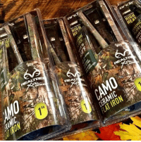 Realtree Camo ceramic flat irons! Perfect for Mother's Day. Shop at: and  HIGH  HIGH  HEAT  01  AT IRON  A」  is HH  C CE  CO Realtree Camo ceramic flat irons! Perfect for Mother's Day. Shop at