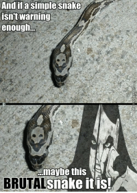 This one has a skull emblem. Clearly the game is trying to tell you that the creature is over 10 levels higher than you.: And if a simple Snake  isn't warning  enough  maybe this  snake it is!  A  BRUTAL This one has a skull emblem. Clearly the game is trying to tell you that the creature is over 10 levels higher than you.