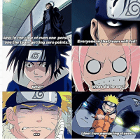 Memes, Naruto, and Tbh: And, in the case of even one person  one the team getting zero points.  Wha?!  Everyone in that team fai!  Y. What did hesaya!  feel two menacinastares I need a vacation tbh 🙌 ⠀ Poor Naruto 😂♡ ⠀ ⏩ Naruto ep; 24