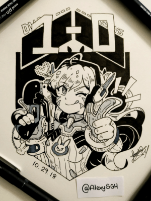 alexysgh:  INKTOBER DAY 29: D.Va one, bad guys zero!| More inktober and artworks |: AND  lo. 29. 18  @AlexySGH alexysgh:  INKTOBER DAY 29: D.Va one, bad guys zero!| More inktober and artworks |