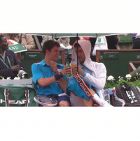 Memes, 🤖, and Wimbledon: AND  MPARIBA Congratulations to Novak Djokovic on another Wimbledon title! Throwback to him being a top lad and having a drink with a ball boy. TeamLADBible Djokovic Wimbledon