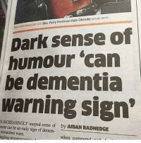 """Party, Target, and Tumblr: and muscular set Bloc Party frontman Kele Okereke PICTURE GETTY  out  Dark sense of  humour 'can  be dementia  warning sign  N INCREASINGLY warped sense of  mour can be an early sign of demen  researchers warn.  ughing at inannrnn*  by AIDAN RADNEDGE  when comnarad <p><a href=""""http://memehumor.net/post/166333980137/nice-knowing-ya"""" class=""""tumblr_blog"""" target=""""_blank"""">memehumor</a>:</p><blockquote><p>Nice Knowing Ya</p></blockquote>"""