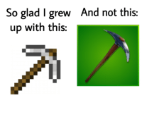Hoes, Minecraft, and Diamonds: And not this:  So glad I grew  up with this: Minecraft taught me not to spend my diamonds on hoes.