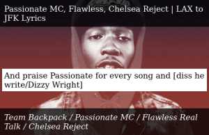 Team Backpack-Passionate MC, Flawless, Chelsea Reject | LAX