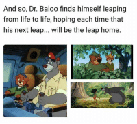 Life, Memes, and Home: And so, Dr. Baloo finds himself leaping  from life to life, hoping each time that  his next leap... will be the leap home.
