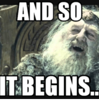Funny Lord Of The Rings: AND SOON  IT BEGINS