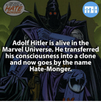 Memes, SpiderMan, and Superman: AND SUCH  IS THE VISION OF  HATE  FACTS HEROES  MONGER!  Adolf Hitler is alive in the  Marvel Universe. He transferred  his consciousness into a clone  and now goes by the name  Hate-Monger. ▲▲ - The Hate-Monger! - Also check out my other IG accounts @factsofflash @yourpoketrivia @webslingerfacts ⠀⠀⠀⠀⠀⠀⠀⠀⠀⠀⠀⠀⠀⠀⠀⠀⠀⠀⠀⠀⠀⠀⠀⠀⠀⠀⠀⠀⠀⠀⠀⠀⠀⠀⠀⠀ ⠀⠀--------------------- batmanvssuperman xmen batman superman wonderwomen deadpool spiderman hulk thor ironman marvel captainmarvel theflash wolverine daredevil aquaman justiceleague youngjustice timdrake greenlantern starwars captainmarvel batmanvsuperman captainamerica homecoming flash ageofultron ultron hatemonger