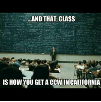 ccw california sadbuttrue: AND THAT CLASS  IS HOW YOU GET A CCWINCALIFORNIA ccw california sadbuttrue