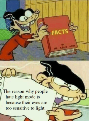 And that's a fact: And that's a fact