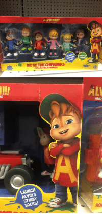 <p>I stopped dead in my tracks when I saw these abominations. What the actual fuck is this redesign? This threw me deep into the uncanny valley and I don't think I'm getting out.</p>: AND THE CHIPMUNKS  POSEABLE  THEP MUNFIGURES  GANG!  MERETHE CHIPMUNKS  E FIG   KS  AND  LAUNCH  ALVIN'S  STINKY  SOCKS!  RO <p>I stopped dead in my tracks when I saw these abominations. What the actual fuck is this redesign? This threw me deep into the uncanny valley and I don't think I'm getting out.</p>