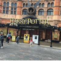 ME & @malfoy_theunanxious ARE ON OUR WAY TO SEE HARRY POTTER AND THE CURSED CHILD 😭😭😭😭😭: AND THE CURSED CHILD  PARTS ONE AND TWO ME & @malfoy_theunanxious ARE ON OUR WAY TO SEE HARRY POTTER AND THE CURSED CHILD 😭😭😭😭😭