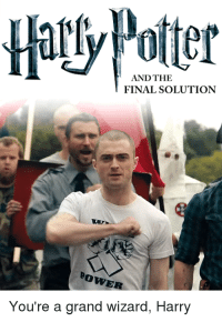 wizard: AND THE  FINAL SOLUTION  Bow  You're a grand wizard, Harry