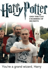 Wizards, Dank Memes, and Grand: AND THE GAS  CHAMBER OF  SECRETS  BowE  You're a grand wizard, Harry